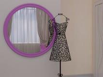 illustrazione 3D di una camera da letto per la ragazza Fotografia Stock Libera da Diritti