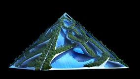 illustrazione 3D di una costruzione verde futuristica fotografie stock libere da diritti