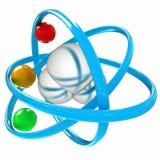 illustrazione 3d di una molecola di acqua Immagini Stock