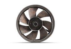 illustrazione 3D di vecchio fan arrugginito isolato su bianco illustrazione vettoriale