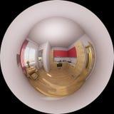 illustrazione 3d 360 gradi di panorama di un interno della cucina Immagine Stock