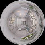 illustrazione 3d 360 gradi, panorama senza cuciture del bagno inter Fotografia Stock