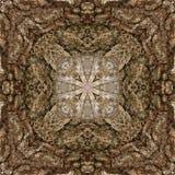 illustrazione 3D Immagine astratta di una superficie di legno di una corteccia di un albero Immagine Stock