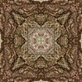 illustrazione 3D Immagine astratta di una superficie di legno di una corteccia di un albero Fotografia Stock Libera da Diritti
