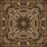 illustrazione 3D Immagine astratta di una superficie di legno di una corteccia di un albero Immagini Stock Libere da Diritti