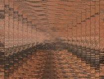 illustrazione 3D Immagine astratta di una superficie di legno di un albero Fotografie Stock