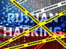Illustrazione d'incisione russa di allarme 3d di attacco di elezione royalty illustrazione gratis