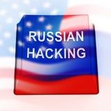 Illustrazione d'incisione russa di allarme 3d di attacco di elezione illustrazione vettoriale