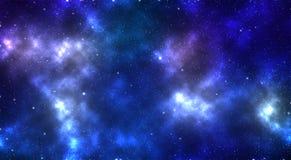 Illustrazione 3D: Spazio di cielo notturno Immagini Stock