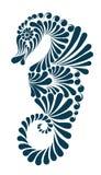 Illustrazione decorativa dell'ippocampo Fotografia Stock Libera da Diritti