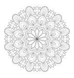 Illustrazione decorativa della mandala immagini stock libere da diritti