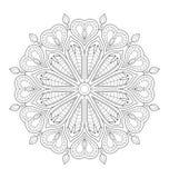 Illustrazione decorativa della mandala immagini stock