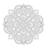 Illustrazione decorativa della mandala Fotografie Stock