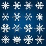Illustrazione decorativa di vettore dei fiocchi di neve fotografie stock