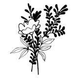Illustrazione decorativa eps10 di vettore di simbolo del mazzo floreale Immagine Stock Libera da Diritti