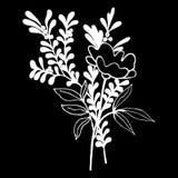 Illustrazione decorativa eps10 di vettore di simbolo del mazzo floreale Immagini Stock Libere da Diritti