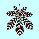Illustrazione decorativa eps10 di vettore di simbolo della foglia floreale della castagna Immagini Stock