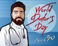 Illustrazione dedicata al dottore Day del mondo royalty illustrazione gratis