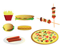 Illustrazione degli alimenti a rapida preparazione (alimenti industriali) Fotografia Stock