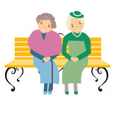 Illustrazione degli anziani Fotografia Stock Libera da Diritti