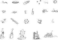 Illustrazione degli elementi dello spazio illustrazione di stock