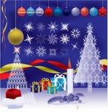Illustrazione degli elementi di nuovo anno Fotografia Stock
