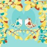 Illustrazione degli uccelli di amore - immagine di vettore Fotografia Stock Libera da Diritti