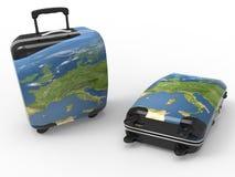 Illustrazione dei bagagli di viaggio Immagine Stock
