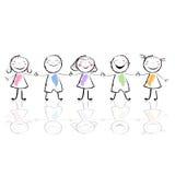 Illustrazione dei bambini Fotografie Stock Libere da Diritti