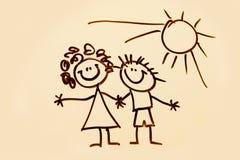 Illustrazione dei bambini Fotografia Stock