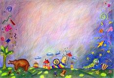 Illustrazione dei bambini a mano Fotografia Stock