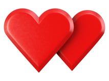 Illustrazione dei biglietti di S. Valentino Fotografia Stock