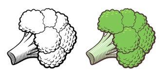 Illustrazione dei broccoli Fotografie Stock