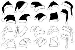 Illustrazione dei cappelli differenti di Natale illustrazione di stock