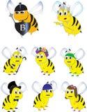 Illustrazione dei caratteri dell'ape Immagine Stock