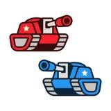 Illustrazione dei carri armati del fumetto Immagine Stock Libera da Diritti