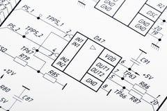 Illustrazione dei circuiti elettrici fotografia stock libera da diritti