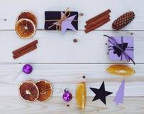 Illustrazione dei contenitori di regalo di Natale Fotografia Stock