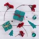 Illustrazione dei contenitori di regalo di Natale Fotografia Stock Libera da Diritti