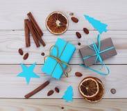 Illustrazione dei contenitori di regalo di Natale Fotografie Stock