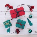 Illustrazione dei contenitori di regalo di Natale Immagine Stock Libera da Diritti