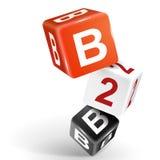 illustrazione dei dadi 3d con la parola B2B Immagine Stock Libera da Diritti