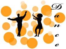 Illustrazione dei danzatori Fotografia Stock Libera da Diritti