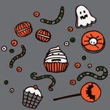 Illustrazione dei dolci di Halloween Fotografia Stock Libera da Diritti