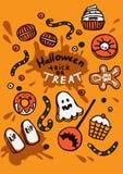 Illustrazione dei dolci di Halloween Fotografia Stock