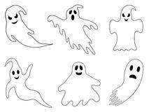 Illustrazione dei fantasmi differenti illustrazione di stock