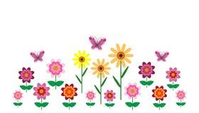 Illustrazione dei fiori luminosi su un fondo bianco royalty illustrazione gratis