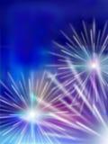 Illustrazione dei fuochi d'artificio Immagini Stock