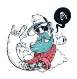 Illustrazione dei graffiti dei pantaloni a vita bassa illustrazione vettoriale