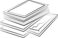 Illustrazione dei libri Fotografia Stock